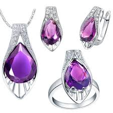 pendant necklace earrings ring set 925