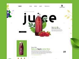 Juice Landing page by Abdullah Fahad in 2020 | Landing page, App design,  Juice