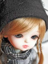 sad cute barbie doll