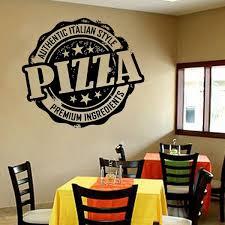 Wall Decal Italy Food Pizza Pasta Italian Cuisine Restaurant Wall Decor Window Glass Door Vinyl Sticker Kitchen Mural Art Wish