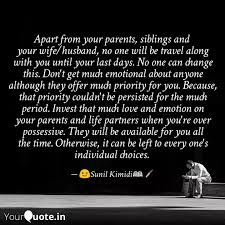 apart from your parents quotes writings by sunil kimidi