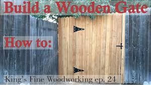 24 How To Build A Wooden Gate In A 6 Foot Cedar Fence Youtube