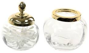 piece accessory set of clear glass
