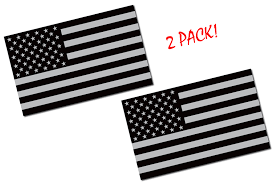 2 Pack 5x3 Black American Flag Decal Anti Flag
