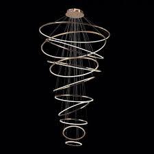 metro led hanging light halo rings gold