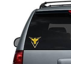 Team Instinct Pokemon Go Car Decal Computer Sticker Etsy