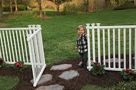 Amazon Com Zippity Outdoor Products Zp19038 Baskenridge Fence Gate White Garden Outdoor