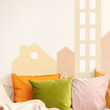 Big City Mural Wall Stickers Plastic Free And Removable Decals For Happy Kids Rooms Made Of Sundays