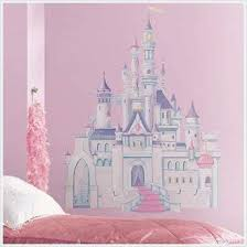 Amazon Com Disney Princess Castle Big Wall Mural Stickers Room Decor New Girl Vinyl Decal R Home Kitchen