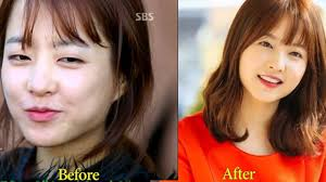 korean actress before and after makeup