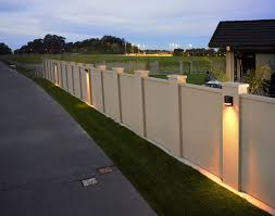 Boundary Wall Lighting Can Do Wonders For The Aesthetic Of Your Property Especially At Twilight Compound Wall Design Fence Wall Design Fence Gate Design