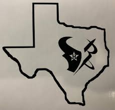 H Star Houston Astros Texans Rockets Texas Outine Vinyl Decal Etsy