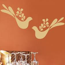 Peace Doves Set Of Two Wall Decal Sticker Graphic