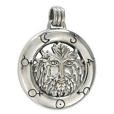 green man alchemy symbol pendant