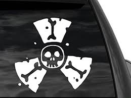Fgd Radioactive Skull Window Decal Sticker 12 X 12 Wsk2120 Car Truck Suv Family Graphix Llc