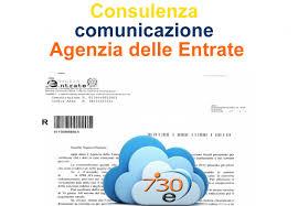 Consulenza per comunicazione Agenzia delle Entrate - 730 elettronico