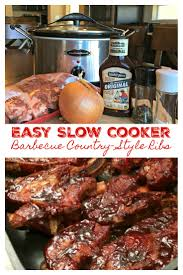 slow cooker barbecue country style ribs