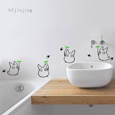 Japanese Cartoon Animation Wall Sticker Totoro Wall Decals Children S Room Bathroom Decoration Shopee Philippines