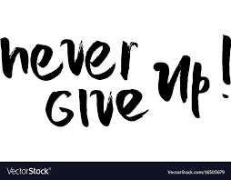 never give up motivational quote royalty vector image