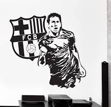 Wall Vinyl Decal Lionel Messi Sport Soccer Football Fc Barcelona Uniqu Wallstickers4you