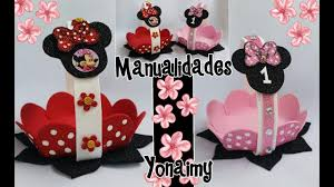 Dulceros De Minnie Mouse En Forma De Canastita Youtube