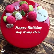 birthday cakes write name on cake images