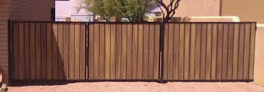 Iron And Wood Gates Classic Rv Gate And Extra Side Panel For Privacy