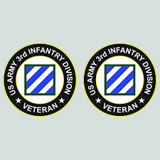 Two Pack Us Army 3rd Infantry Division Veteran Patch Sticker Diecut Decal Fa Vinyl Fagraphix 1868cfbfa