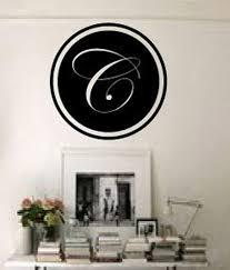 Xl Custom Vinyl Initials Monogram Wall Decal Sticker Many Colors Script Bedroom Home Garden Bedroom Playroom Dorm Decor