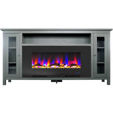 electric fireplace tv stand in gray