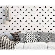 Shop 64pcs Set Modern Vinyl Triangles Wall Decal Solid Outline Triangles Pattern Wall Sticker Diy Home Decor Kids Black Overstock 19967112