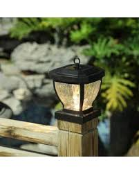 24 Off Luxen Home Low Voltage Solar Powered Led Fence Post Cap Whsl446