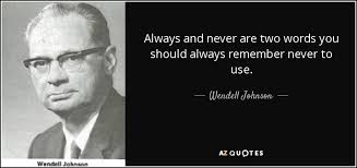 QUOTES BY WENDELL JOHNSON | A-Z Quotes