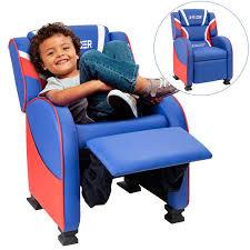 Walnew Kids Recliner Chair Red Blue Pu Leather Single Living Room Chair Children Sofa For Boys Girls Walmart Com Walmart Com