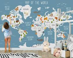 Map Wall Decal Etsy