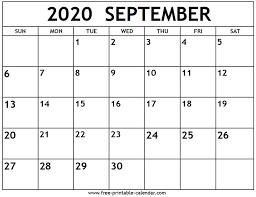 September 2020 Calendar - Free ...