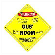 Gus Room Decal Crossing Zone Xing Kids Bedroom Door Children S Name Boy Girl Walmart Com Walmart Com