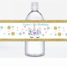 Etiquetas Personalizadas De Unicornio Para Botella De Agua