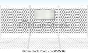 Chainlink Fence Chain Link Fence With Empty Metallic Sign For Your Text