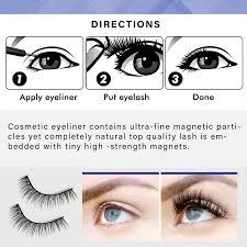 eyeliner and magnetic eyelashes