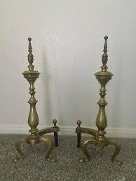 vintage antique turned baer brass