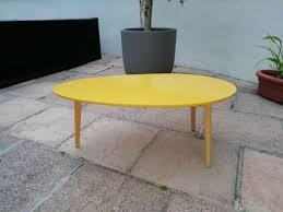 miami retro style oval coffee table