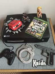 Grand Theft Auto Gta Xbox Cake Tortas De Cumpleanos Para