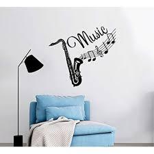 Wall Decal Musical Instrument Saxophone Vinyl Sticker Decals Recording Studio Music Home Decor Bedroom Nursery Art Design Interior Ns454 Walmart Com Walmart Com