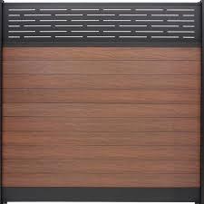 Veranda Euro Style 6 Ft X 6 Ft Lattice Top Black Rose Aluminum Composite Horizontal Fence Panel Ef 03402 The Home Depot