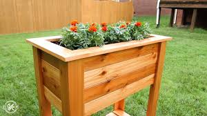 diy raised planter box plans video
