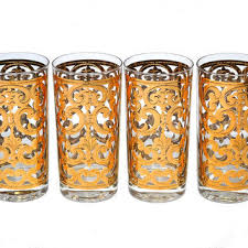 vintage georges briard gold glasses
