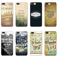 Not All Those Who Wander Are Lost For Huawei Honor 10 9 Lite 8c 8x 7c 7x 7a 6c Pro Play 6x 6a 5a 5c 5x V10 Soft Cover Case Half Wrapped Cases Cellphones