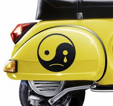 Unique Vinyl Yin Yang Sad Motorcycle Decal Tenstickers