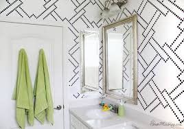 Stenciling And Kids Bath Makeover House Mix